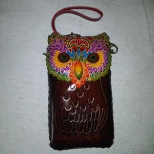 Genuine leather Owl Purse